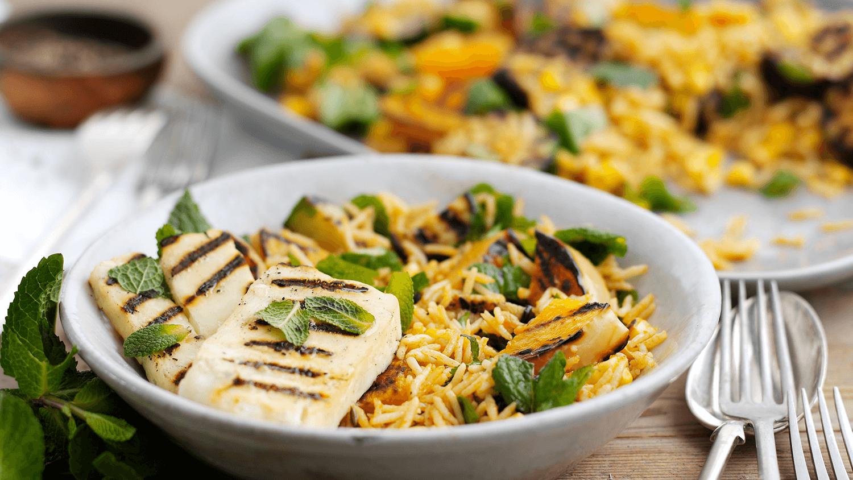 Halloumi & Vegetable Salad