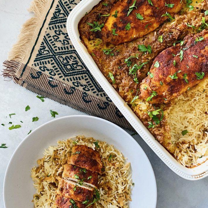 Tandoori Chicken and Rice Bake