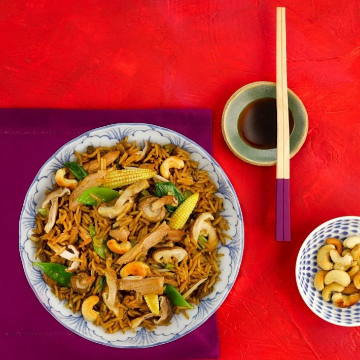 Oriental Duck and Mushroom Stir-Fry