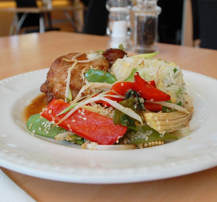 Teriyaki Chicken with Savory Egg Basmati Rice